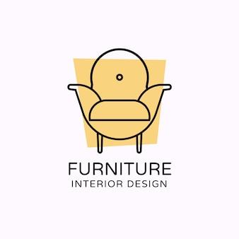 Mobiliário de logotipo minimalista