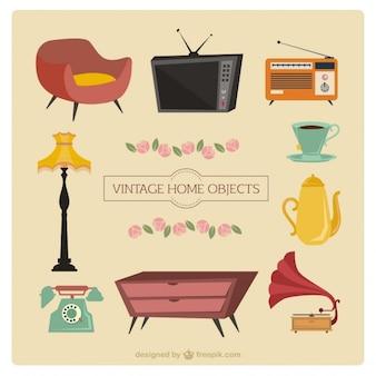 Mobiliário desenhos animados do vintage