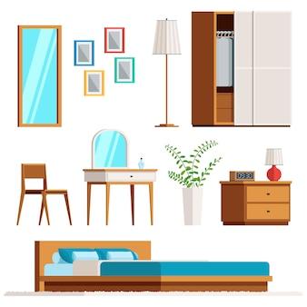 Mobiliário interior de quarto