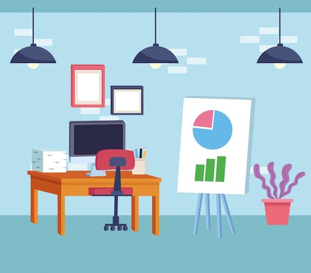 Mobiliário moderno estilo de decoração dos desenhos animados
