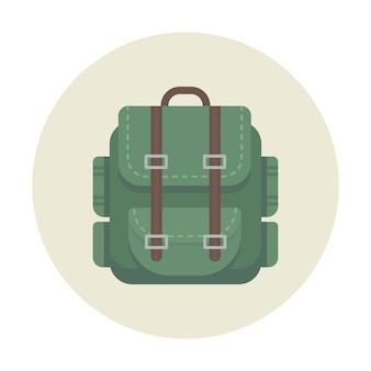 Mochila camping ícone para viagens ao ar livre