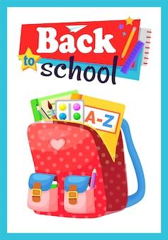 Mochila escolar colorida de volta à escola