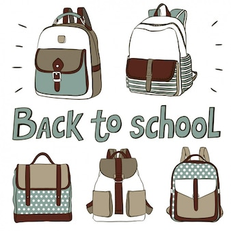 Mochilas bonitos para voltar para a escola