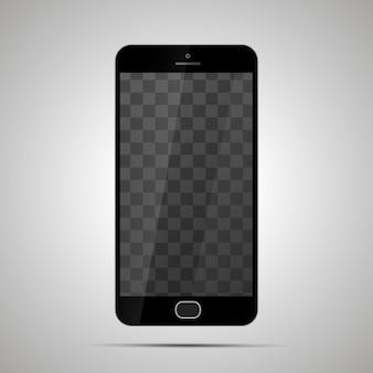Mock-se de smartphone brilhante realista com lugar transparente para tela