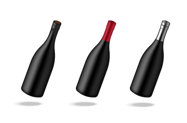 Mock-se fundo de garrafa de vinho de vinho premium realista