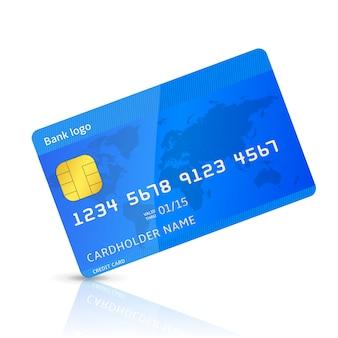 Mock up de cartão de crédito