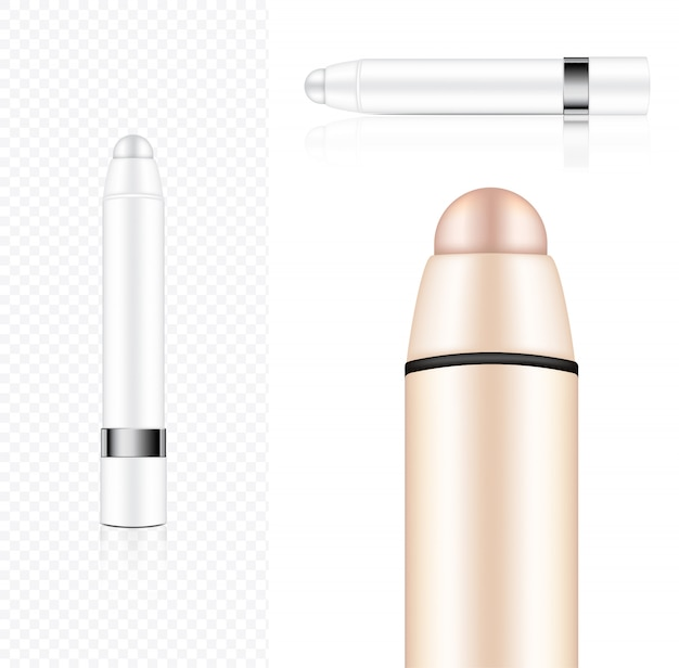 Mock up realistic cosmetic lipstick pencil