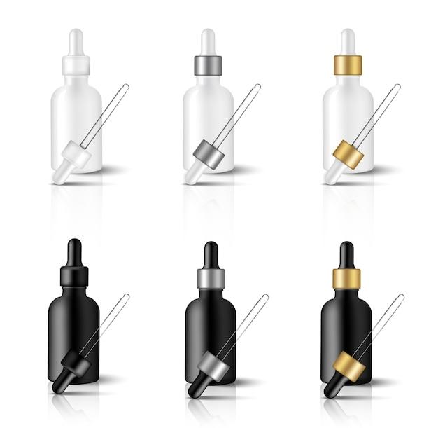 Mock up realistic dropper óleo anti-envelhecimento serum skincare