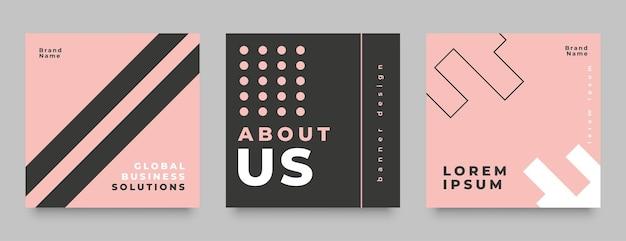 Moda estilo mídia social pós design de banner
