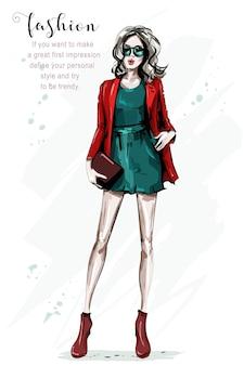 Moda feminina com vestido e casaco fixes