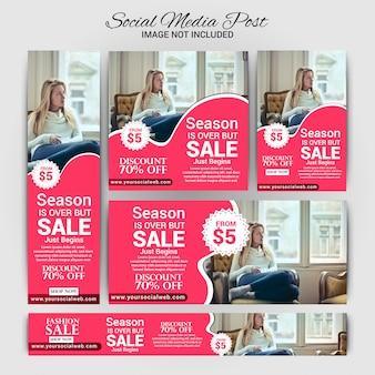 Moda social media marketing set