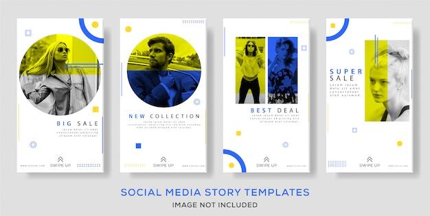 Moda verão venda banner ou instagram histórias modelo conjunto