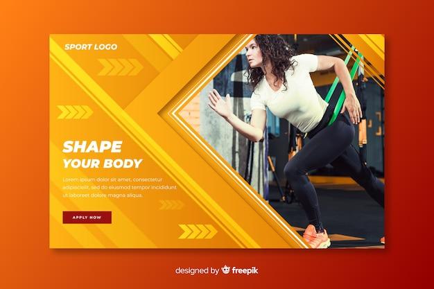 Modele sua página de destino para esportes corporais