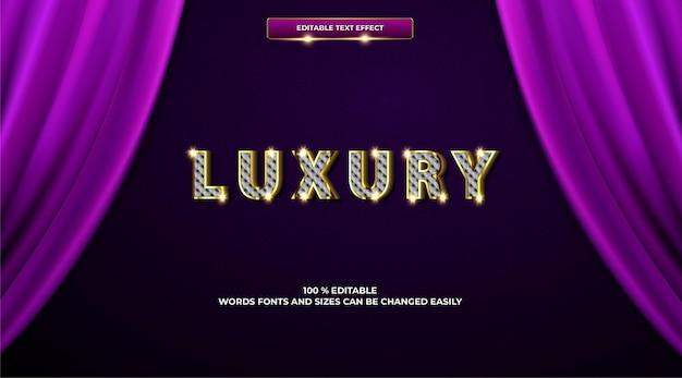 Modelo 3d de efeito de texto de luxo