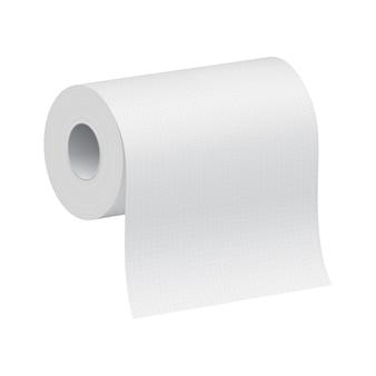 Modelo 3d em branco branco do rolo de papel