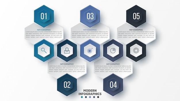 Modelo 3d infográfico para apresentação. visualização de dados de negócios. elementos abstratos. conceito criativo para infográfico.