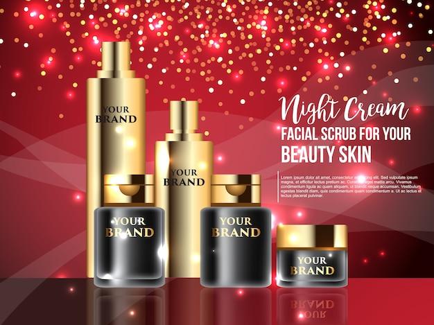 Modelo 3d mock up para produtos cosméticos de luxo