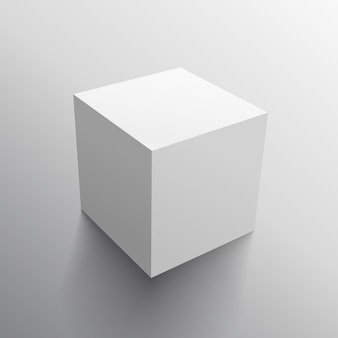 Modelo 3d realista projeto da caixa cubo