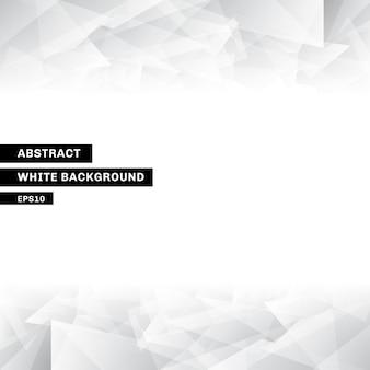 Modelo abstrato baixo poli branco fundo na moda