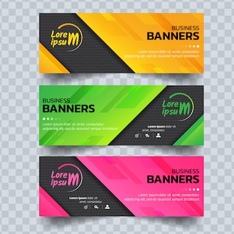Modelo abstrato bandeiras coloridas.