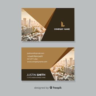 Modelo abstrato cartão de visita com foto