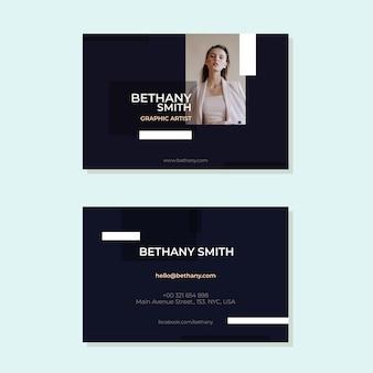 Modelo abstrato cartão de visita com imagem