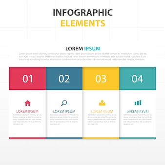 Modelo abstrato colorido infográfico negócios
