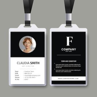 Modelo abstrato com foto para carteiras de identidade