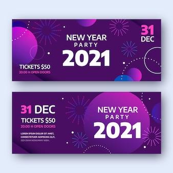 Modelo abstrato de banners para festa de ano novo 2021