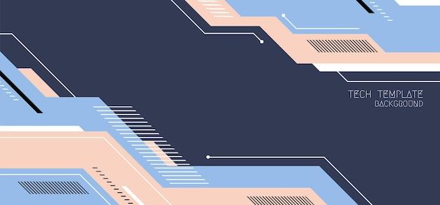 Modelo abstrato de cabeçalho de arte tecnológica de design mínimo