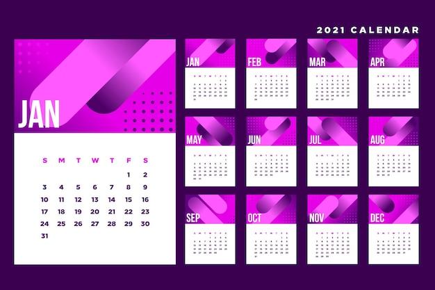 Modelo abstrato de calendário 2021