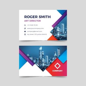 Modelo abstrato de cartão de visita com foto