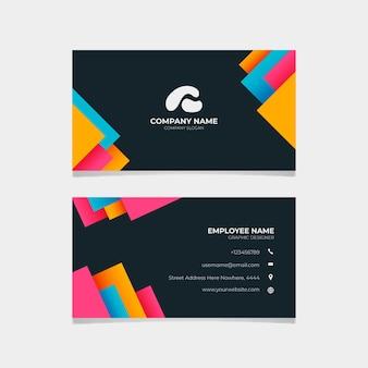 Modelo abstrato de cartão de visita