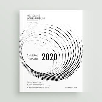 Modelo abstrato de design de folheto de negócios de pontos circulares abstratos
