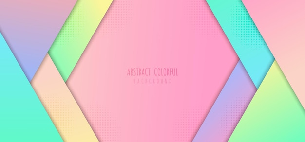 Modelo abstrato de gradientes coloridos de desenho geométrico