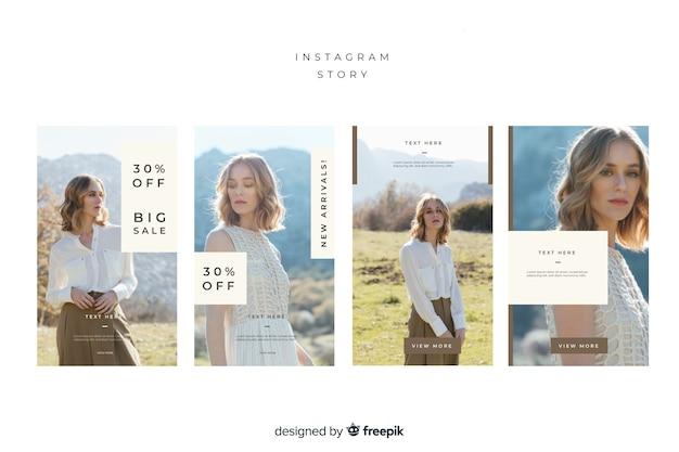 Modelo abstrato de histórias do instagram