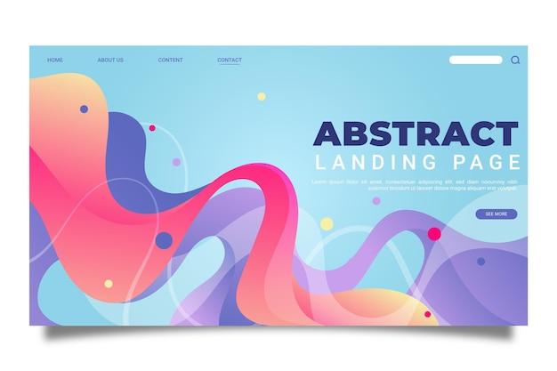 Modelo abstrato de página de destino