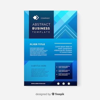 Modelo abstrato de panfleto de negócios