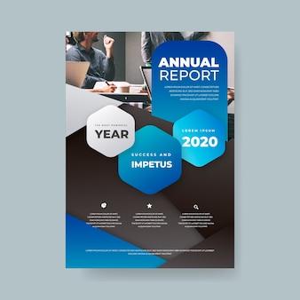 Modelo abstrato de relatório anual com imagem