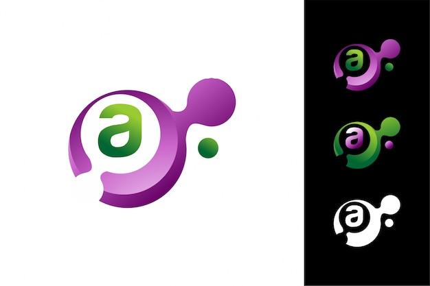 Modelo abstrato do logotipo da letra 3d a