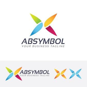 Modelo abstrato do logotipo do vetor do símbolo