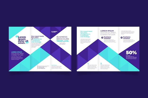 Modelo abstrato para brochura