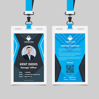 Modelo abstrato para carteiras de identidade com foto
