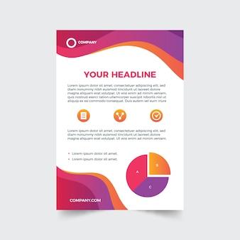 Modelo abstrato para panfleto comercial com gráficos
