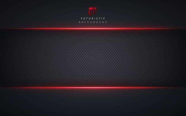 Modelo abstrato tecnologia estilo metálico vermelho brilhante cor preta.