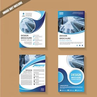Modelo capa folheto ou brochura sagacidade geométrica