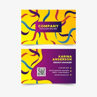 Modelo colorido abstrato de cartão de visita de negócios