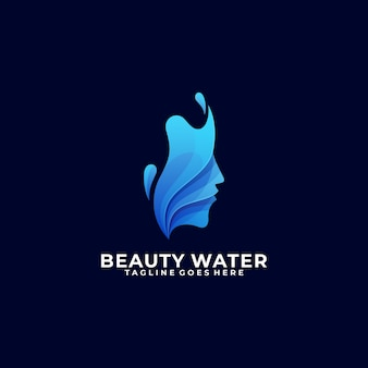Modelo colorido de água de beleza