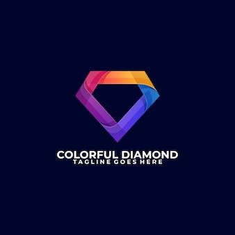 Modelo colorido de diamante