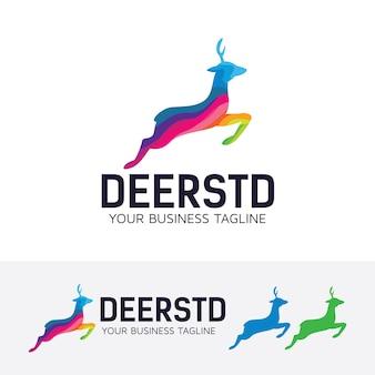 Modelo colorido do logotipo do estúdio deer